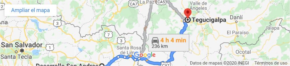 mapa tegucigalpa